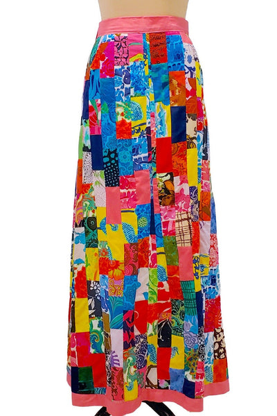 Kaleidoscope dreams | 1970s wrap patchwork skirt