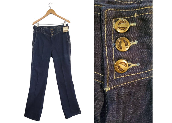 1970s high waisted, straight leg Hang Ten jeans