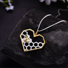 Love Heart Bee Pendant Necklace
