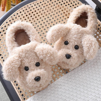 Plush Puppy Slippers