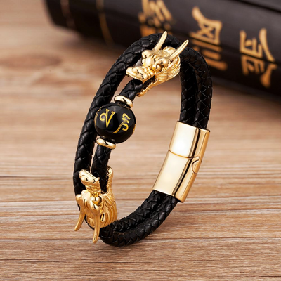 Mythical Dragon Steel Bracelet