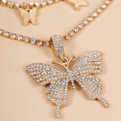 Aria Crystal Butterfly Necklace