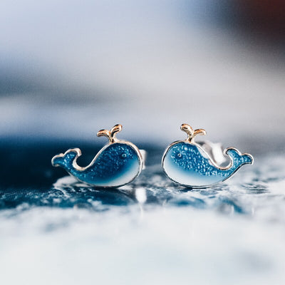 Majestic Whale Earrings
