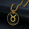 STAINLESS STEEL 12 ZODIAC SIGN NECKLACES