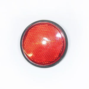 Round Red Reflector With 6mm Mounting Bolt