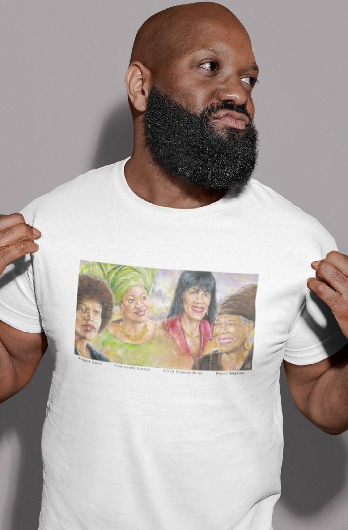 Men's Cotton Crew Tee: Powerful Women! - The LEGACY Collexion