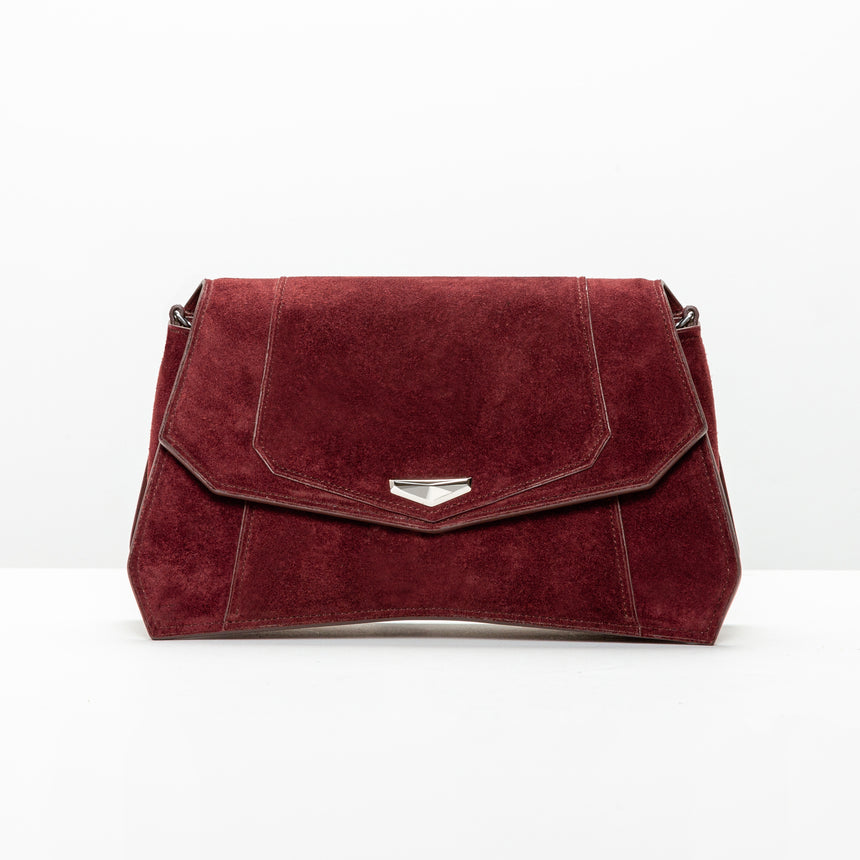 VERUS Clutch // Burgundy Red