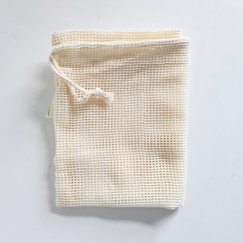 Save Some Green cotton produce bags - reusable fruit and veg bag - Peanut and Poppet UK