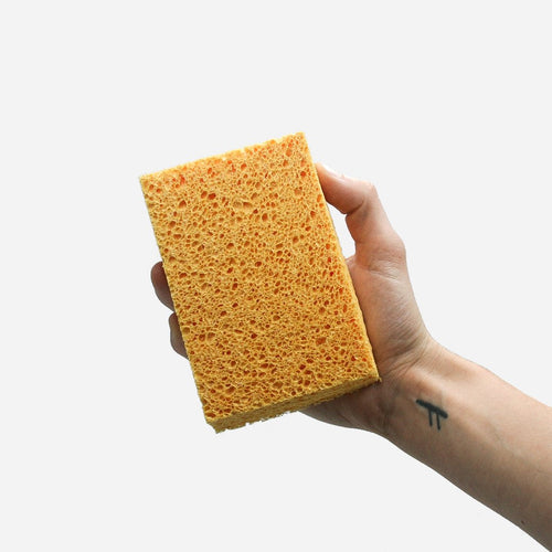 Person holding EcoVibe compostable sponges - eco kitchen - Peanut and Poppet UK
