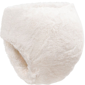 Back of Little Lamb bamboo fitted nappy with velcro waist - size 1 and size 2 night nappies - Peanut and Poppet UK