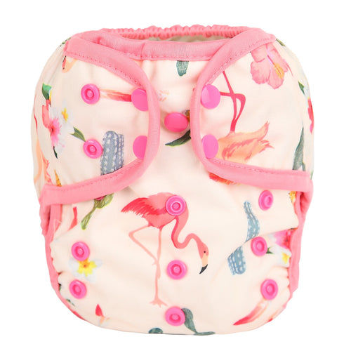 Sigzagor Prickled Pink cloth nappy cover / wrap with poppers - cloth nappies - Peanut and Poppet UK
