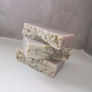 Stack of Save Some Green Wild Lavender Uno Bar - Solid shampoo, wash and shave bar - Eco Bathroom - Peanut and Poppet UK