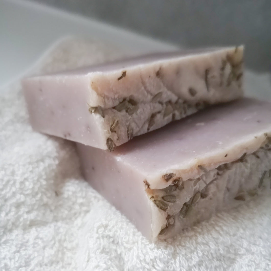 Two Save Some Green Wild Lavender Uno Bar - Solid shampoo, wash and shave bar - Eco Bathroom - Peanut and Poppet UK