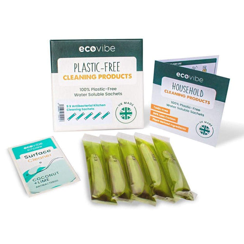 Ecovibe Soluble Kitchen Cleaner Sachets - eco kitchen - Peanut and Poppet UK