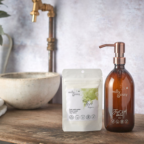 Milly & Sissy fresh apple refill hand wash sachets - plastic free hand wash - Peanut and Poppet UK