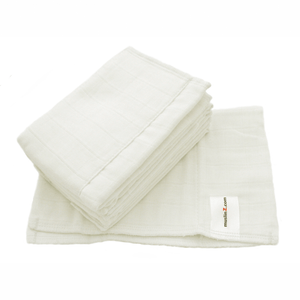 Muslinz 100% cotton muslin white prefolds size 1 (newborn) - Cloth Nappies - Peanut and Poppet UK