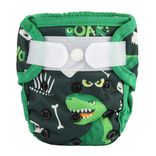 Sigzagor dinosaur newborn nappy cover with velcro - cloth nappies - Peanut and Poppet UK