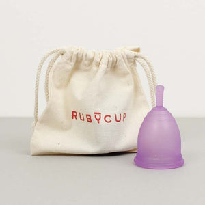 Ruby cup medium in purple with bag - eco-friendly period - Peanut and Poppet UK