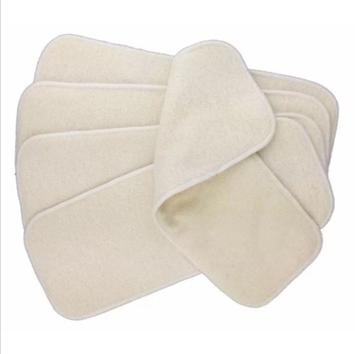 Sigzagor 4 layer 100% unbleached bamboo inserts - cloth nappy inserts and boosters - Peanut and Poppet UK