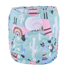 Load image into Gallery viewer, No Probllama print Sigzagor pocket nappy with hook and loop laundry tabs - cloth nappies - Peanut and Poppet UK