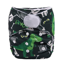 Load image into Gallery viewer, Sigzagor dinosaur pocket nappy velcro - cloth nappies - Peanut and Poppet UK