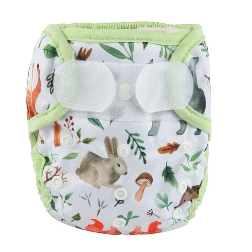 Sigzagor Forest Friends print cloth nappy cover / wrap with velcro - cloth nappies - Peanut and Poppet UK