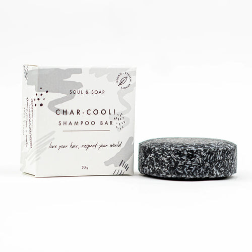 Side of Soul and Soap Char-Cool Shampoo Bar - Eco Living - Peanut and Poppet UK