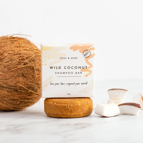 Soul and Soap Wild Coconut Shampoo Bar - Shampoo bar - Peanut and Poppet UK