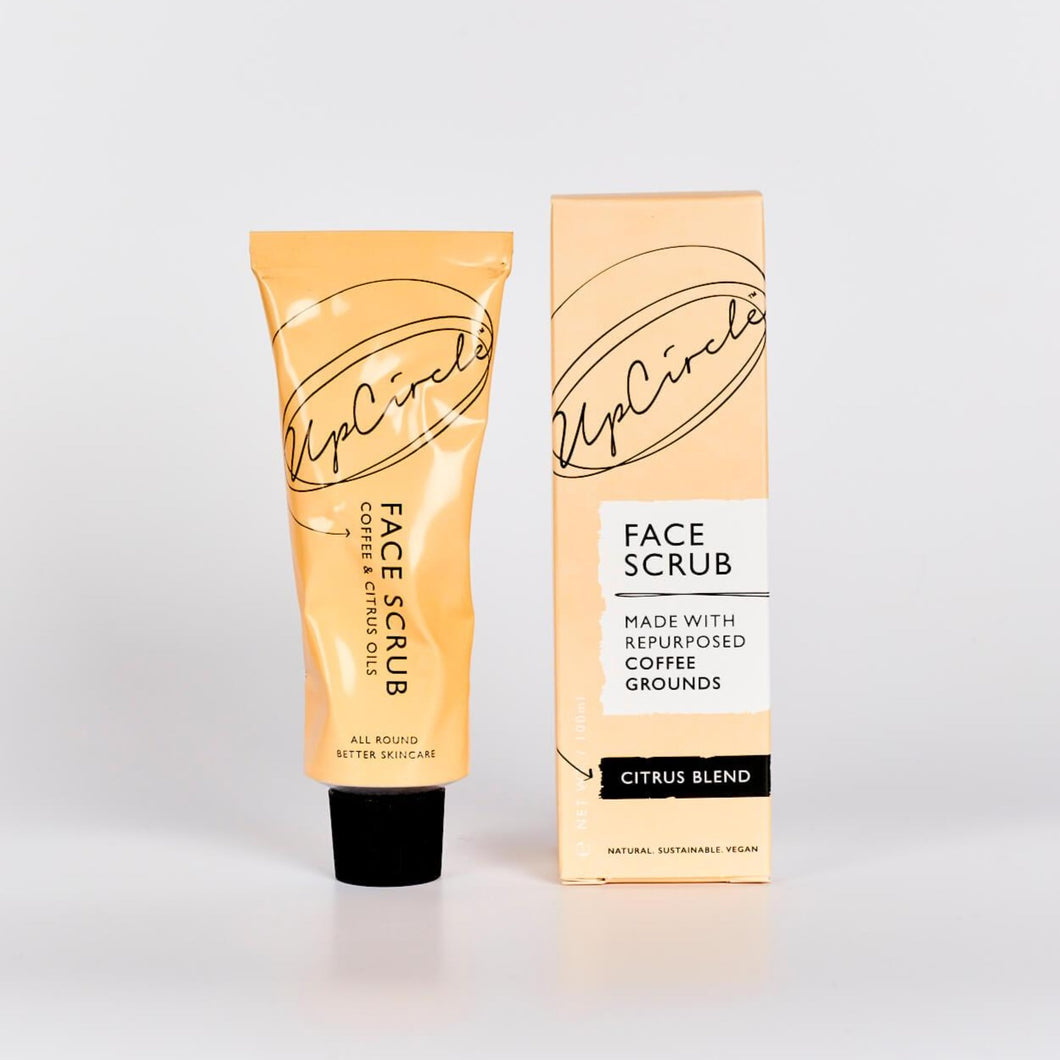UpCircle Coffee Face Scrub in Citrus Blend - Eco friendly and vegan face scrub - Peanut and Poppet UK