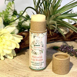 Inside of Green Planet Beauty Natural Vegan Lip Balm - Eco Skincare - Peanut and Poppet UK