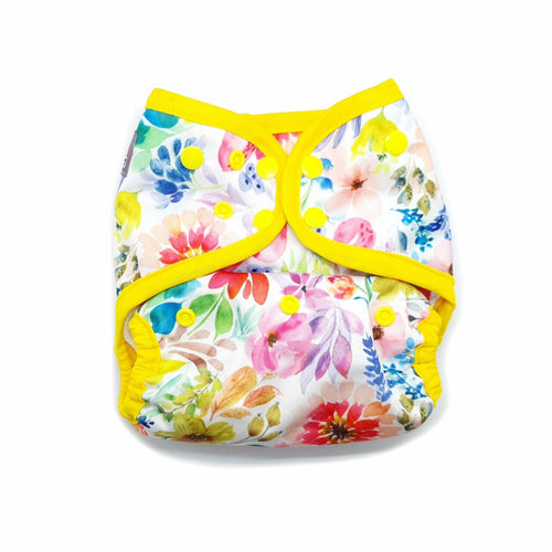 Little Lovebum Everyday in Gaia (Floral)- Cloth Nappies - Peanut and Poppet UK