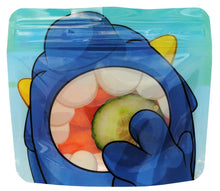 Load image into Gallery viewer, Blue Nom Nom Kids reusable monster snack bags - Eco Living - Peanut and Poppet UK