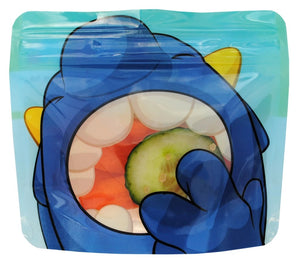 Blue Nom Nom Kids reusable monster snack bags - Eco Living - Peanut and Poppet UK