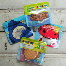 Load image into Gallery viewer, 4 Nom Nom Kids reusable monster snack bags for toddlers - Eco Living - Peanut and Poppet UK