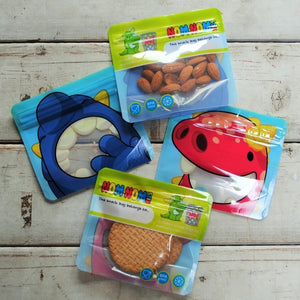 4 Nom Nom Kids reusable monster snack bags for toddlers - Eco Living - Peanut and Poppet UK