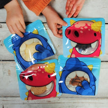 Load image into Gallery viewer, Nom Nom Kids reusable monster snack bags - Eco Living - Peanut and Poppet UK