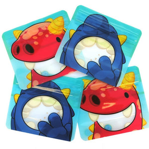 4 Nom Nom Kids reusable monster snack bags - Eco Living - Peanut and Poppet UK