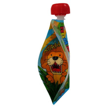 Load image into Gallery viewer, Bottom of Nom Nom Kids reusable animal food pouches - Eco Living - Peanut and Poppet UK