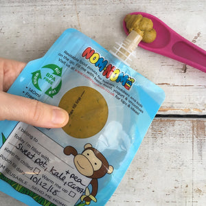 Nom Nom Kids reusable animal food pouches - Reusable Baby Food Pouch - Peanut and Poppet UK