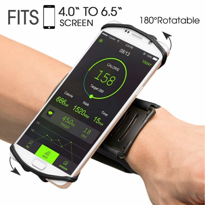 Universal 180° Rotatable Phone Armband Holder