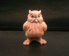 Wood Carved Owl Boxwood Netsuke
