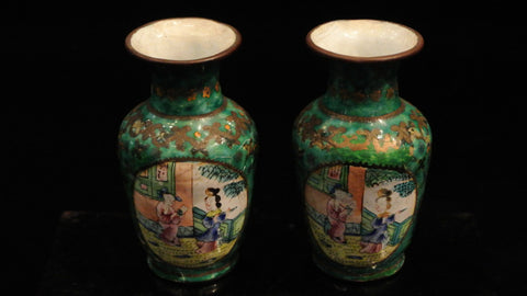 Cloisonne Vases Mini Green