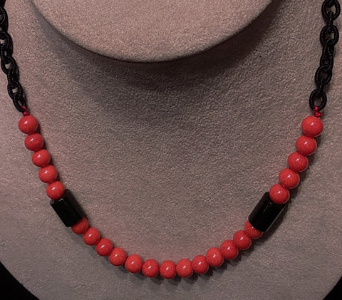 Coral Beads Necklace Natural