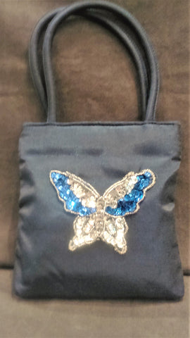 Handbag Blue Butterfly