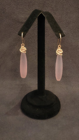 Jewelry Earrings Pink Quartz 14k Gold Filled