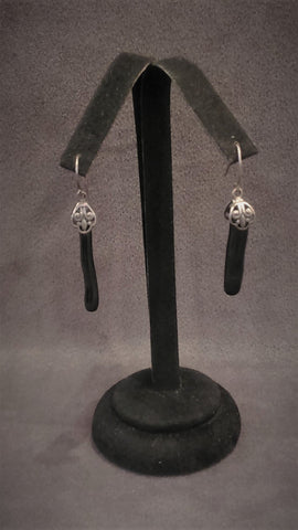Jewelry Earrings Silver Black Corals