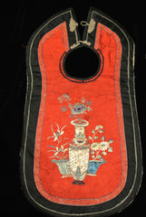 Embroidery Chinese Red Bib