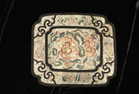 Embroidery Chinese Applique Square Mat