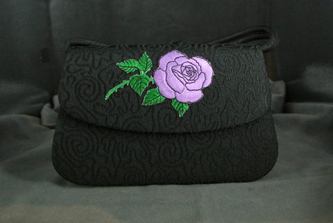 Handbag Purple Rose