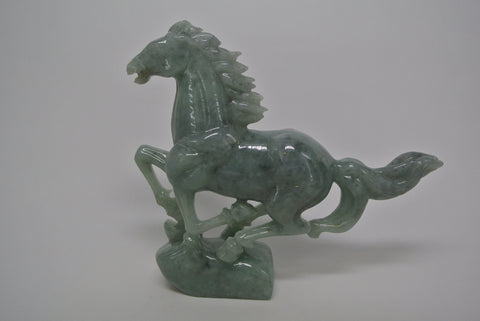 Jade Carving Galloping Horse Jadeite